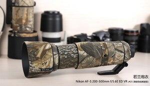 Image 5 - ROLANPRO Camera Lens Coat Camouflage AF S 200 500mm f/5.6E ED VR Lens protective case guns clothing For Nikon