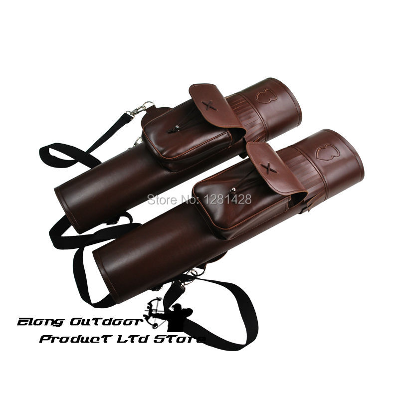 Фотография New Color Style Elong Brand  PU Leather Arrow Quiver With Braces For Bow Hunting Arrow Hunting Archery,1PCS/LOT