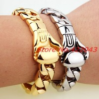 High Quality New Arrival Silver Gold 15MM 8 66 Casting Stainless Steel Boxing Glove Cuban Chain