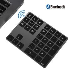 Mini teclado numérico inalámbrico con Bluetooth, teclado con calculadora de 34 teclas, teclados recargables para Windows/ iOS/Android