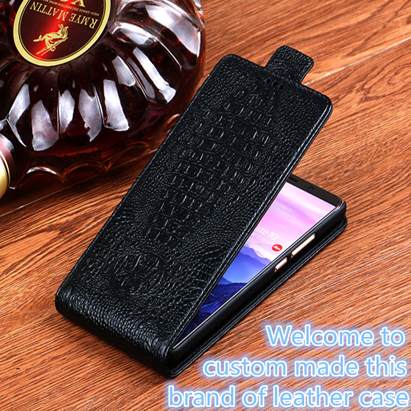 new concept b9944 79e4f LS01 Genuine Leather Flip Cover Blackberry DTEK60 Vertical Flip Phone Up  And Down Leather Cover Phone Case