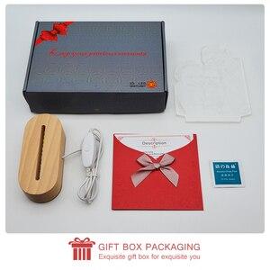 Image 5 - Dropshipping Customized 3D Night Light USB Wooden Base DIY Night Lamp For Wedding Christmas Gift Holiday Light Custom Text Photo