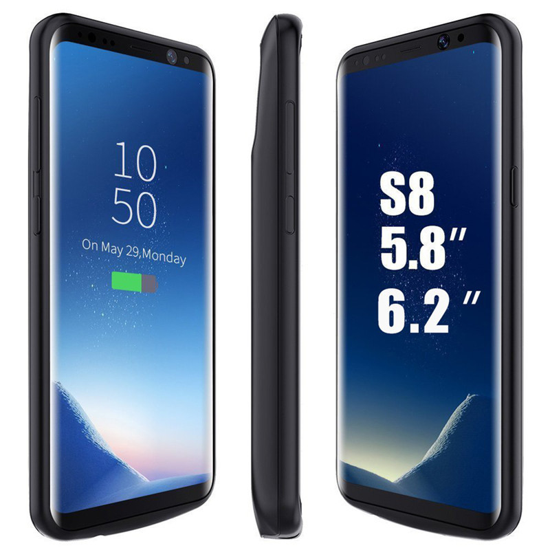 for samsung galaxy s8 s8plus battery case rechargeable powerbank backup external battery charger. Black Bedroom Furniture Sets. Home Design Ideas