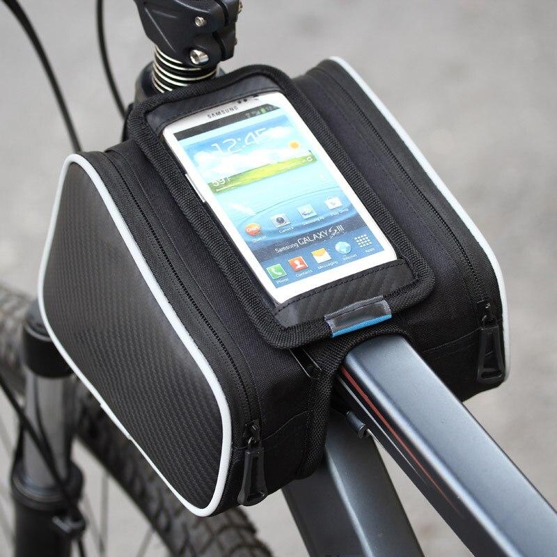 imágenes para Marco de La Bicicleta de Frente Cabeza Tubo Superior Bolsa de Teléfono Bolsa de Ciclismo Pannier Del Sostenedor Del Caso Para el iphone 7 6 S PLUS LG HTC Samsung etc.