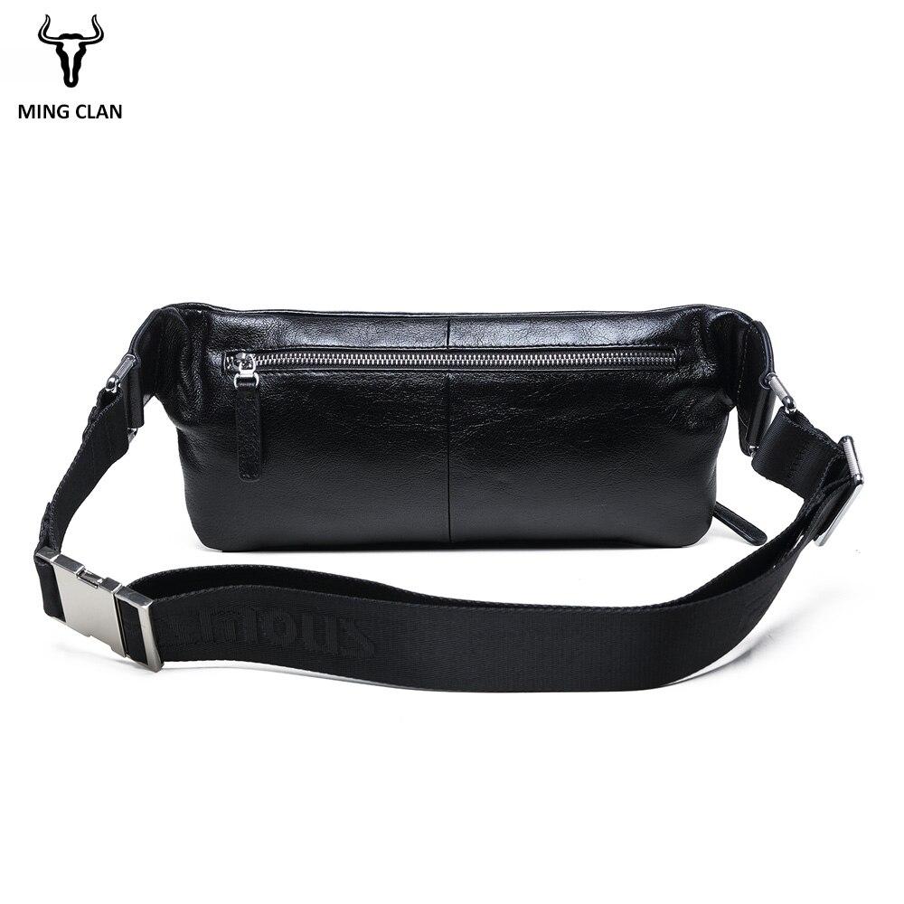 Mingclan, мужские дорожные сумки из натуральной коровьей кожи, сумки на пояс, портативная мужская сумка на пояс, мини сумка на пояс для телефона, ... - 2