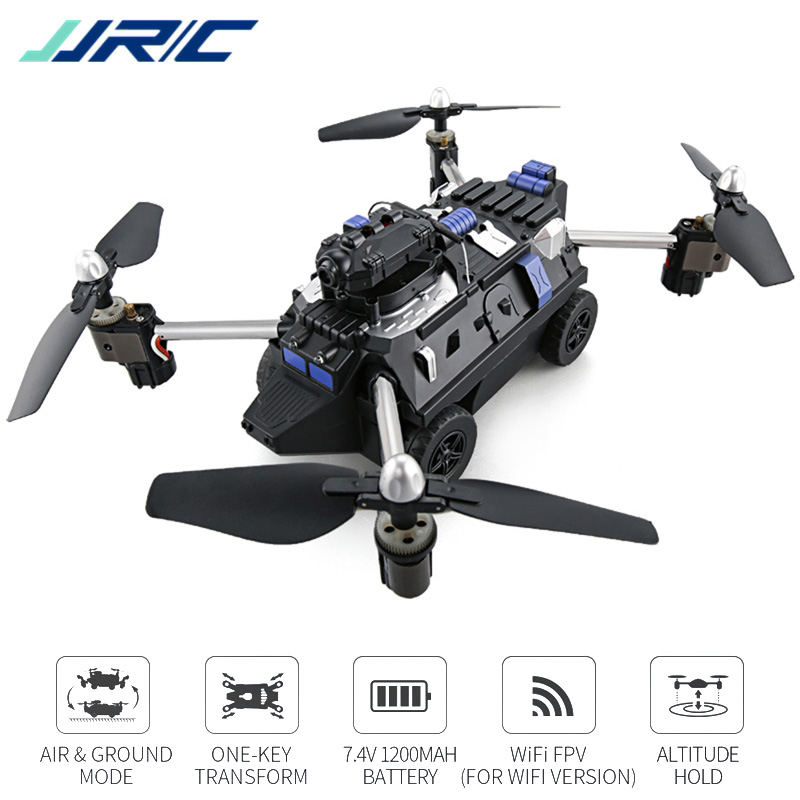JJRC H40WH Air Land Ground Mode Quadrocopter with Camera WIFI FPV Drones Helikopter Car Toys for Kids 2017 new arrival jjrc h40wh wifi fpv with 720p hd camera altitude air land ground mode rc quadcopter car drones helicopter toys