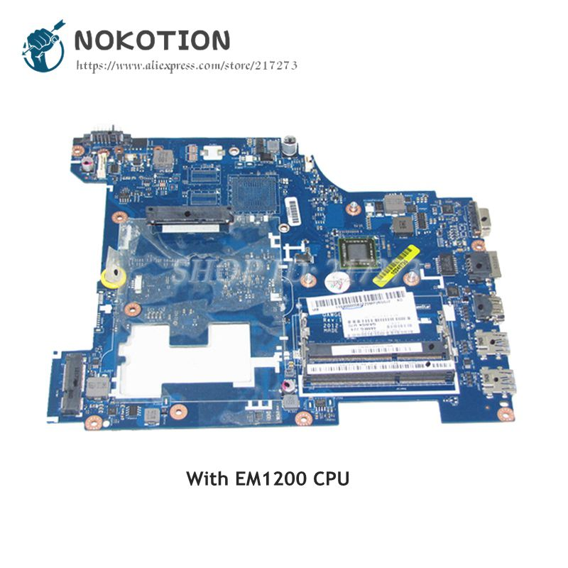 NOKOTION For Lenovo G585 N585 Laptop Motherboard QAWGE LA 8681P MAIN BOARD with E1200 CPU on board Two ram slots|Motherboards| |  - title=