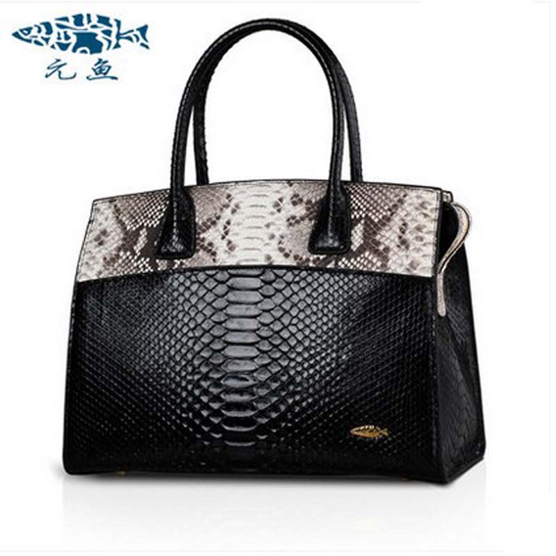 yuanyu 2018 new hot free shipping real Python skin snake skin color women handbag  Elegant color serpentine fashion leather bag yuanyu real snake skin women bag new decorative pattern women chain bag fashion inclined single shoulder women bag