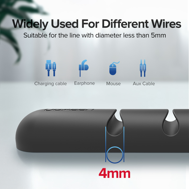 Ugreen Cable Organizer Silicone USB Cable Winder Flexible Cable Management Clips Cable Holder For Mouse Headphone Earphone 2