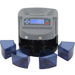 Электронный сортировщик монет 110 В/220 В, может отделить сортировщик монет по евро/долларам с четким сенсором и автоматическим выдвижением в ...