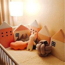 KAMIMI لطيف سرير الطفل السياج 4 قطع مجموعة جميلة الاسفنج البيت سرير السرير سرير الطفل مجموعة حماية آمنة