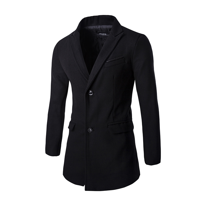 Popular Black Coats Men-Buy Cheap Black Coats Men lots from China