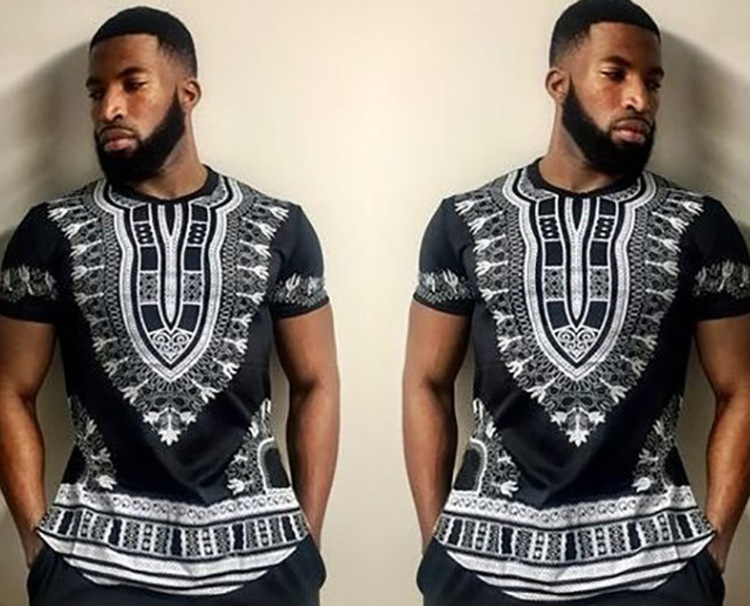African Riche African Clothing Time-limited Hot Sale Traditional New Arrival Polyester Printing Men Clothes Dashiki Plus sizes (6)
