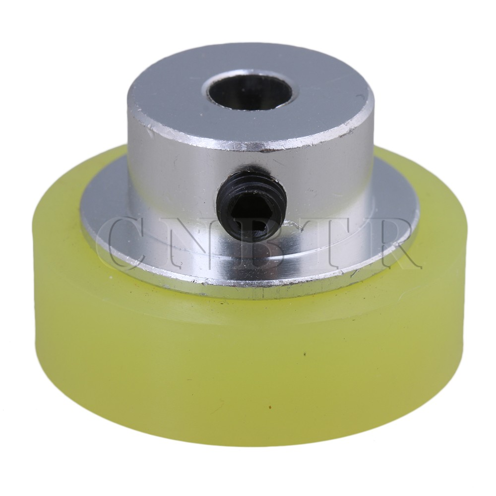 CNBTR 100x6mm Yellow Silver Industrial Aluminum Silicone Rotary Encoder Measuring Wheel for Measuring Conveying Speed & Position original taiwan honest sensor measuring wheel encoder