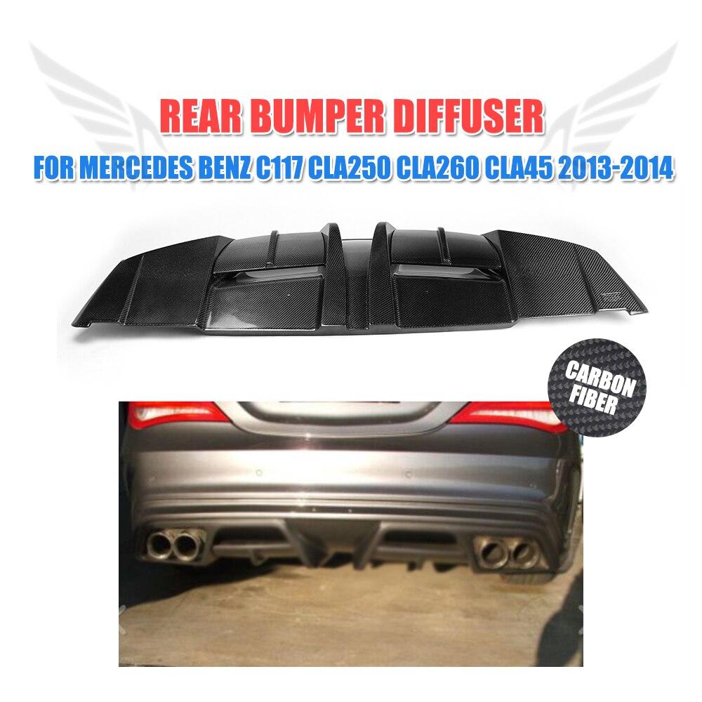 Carbon Fiber Rear bumper diffuser Lip for Mercedes Benz W117 C117 CLA250 CLA260 CLA45 Sedan 2013-2014