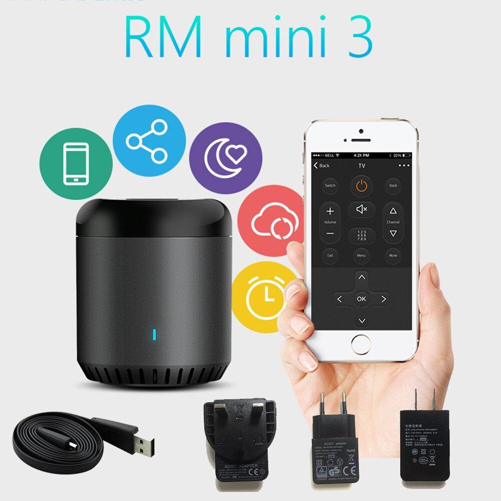 Broadlink RM Mini3 Universal Intelligent WiFi/IR/4G Wireless Remote Controller Via IOS Android Smart Home Automation