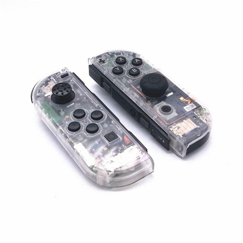Habitação Tampa do Caso Shell para Nintend Interruptor Controlador Joy-Con NS Transparente Substituição Interruptor de Casos de Proteção para Nintendo