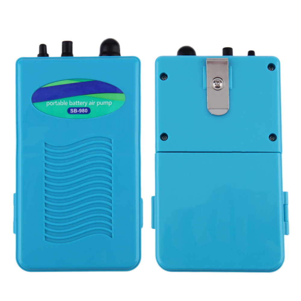 Waterproof Portable Air Oxygen Pump for Fish Tank Aquarium Accessories with Soft Tube Air Stone Aquatic Pet Products New Arrival