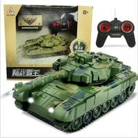 New 1:18 RC Tank Crawler IR Remote Control Toys Simulation Infrared RC Battle Tank Toy RC Car with music and led gifts for kids