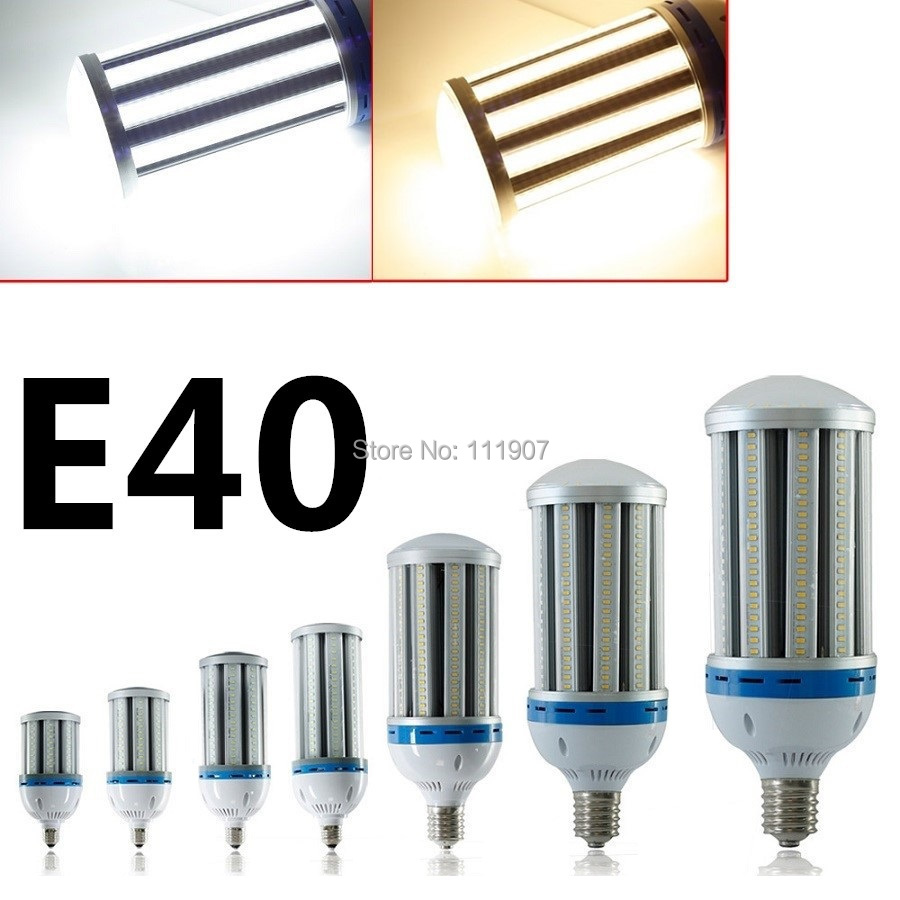 E40 35W/45W/55W/65W/80W/100W/120W SMD AC85-265V High Power LED Corn Bulb Lamp Warm/Cool White Cylinde Corn Light New Arrival