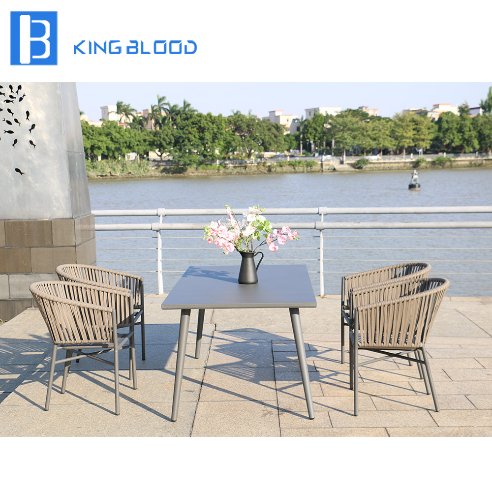 Hot Sale Outdoor Wicker Rattan Woven Dining Chair and table