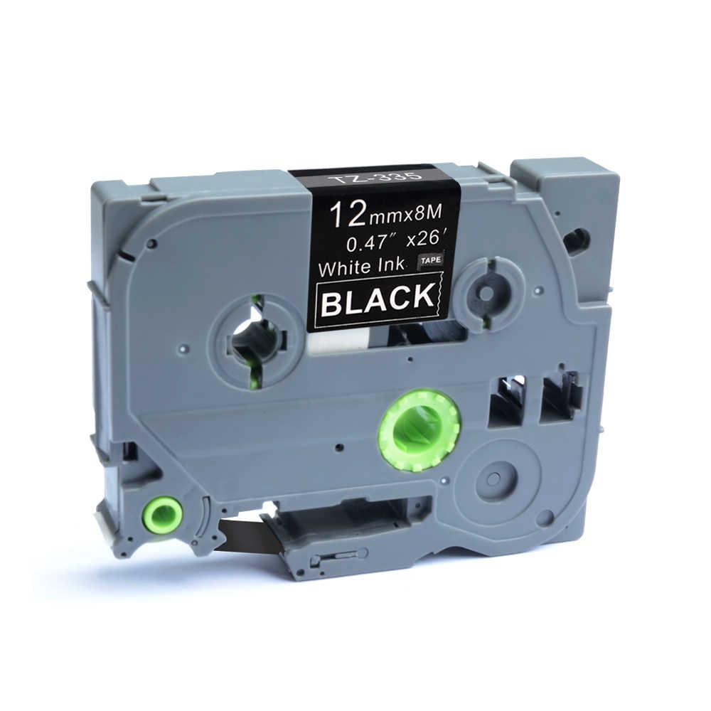 AOMYA p-touch 1 PC Compatible con Brother TZe-335 12mm x 8 m cinta de etiquetado estándar