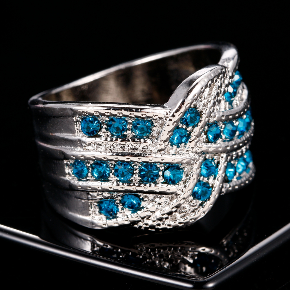 HTB10.VuB8mWBuNkSndVq6AsApXas Fine Jewelry Luxury Party Queen Aquamarine Finger Rings For Women 925 Silver Jewelry Wedding Engagement Ring Gift Wholesale