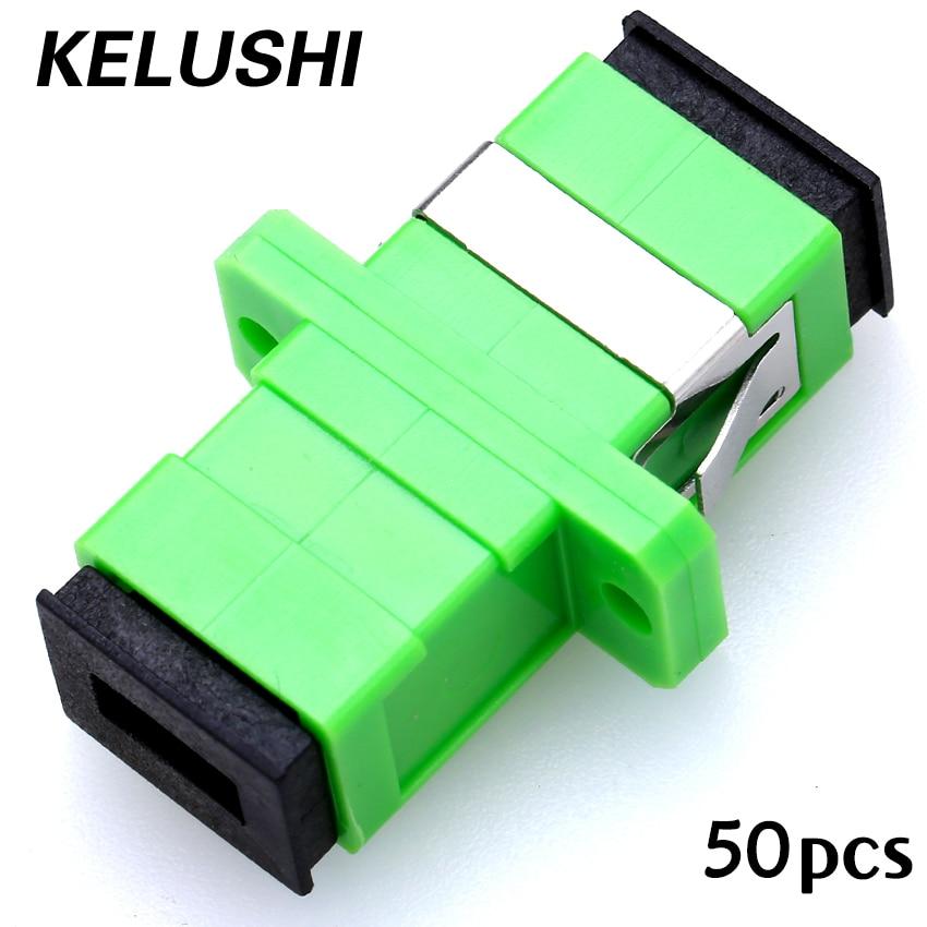 Freies Verschiffen 50 stücke SC-SC single/multimode Simplex Flansch Koppler SC/APC Adapter Stecker für Digitale Kommunikation KELUSHI
