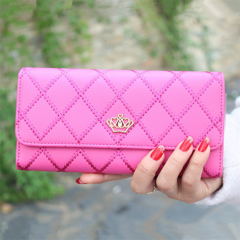 2018 Most Popular And Hot Sales Lady Women Clutch Long Purse Leather Wallet Card Holder Handbag Bags High Quality Billetera A9