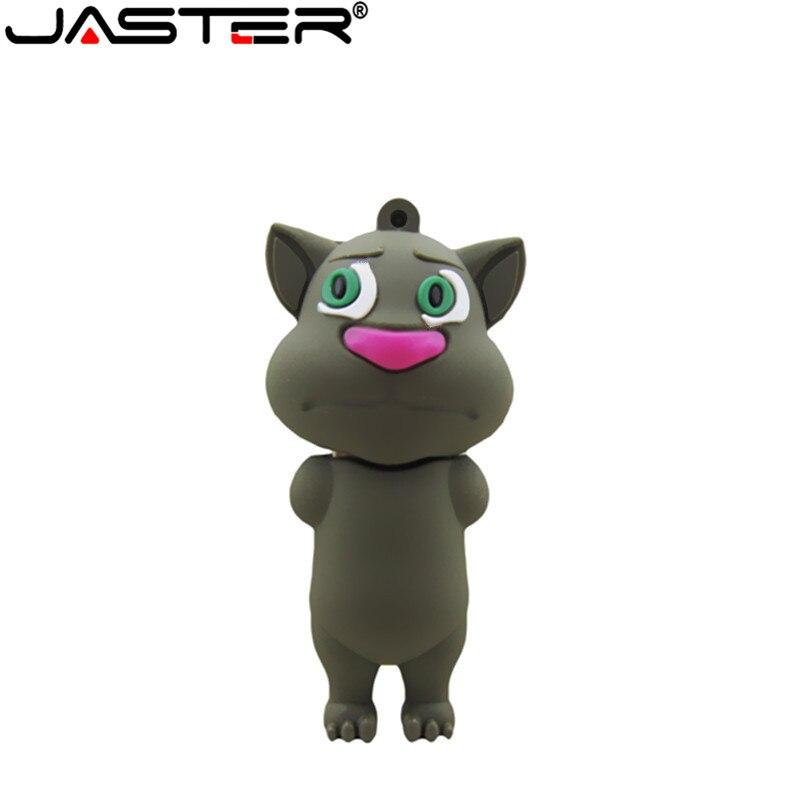 JASTER  Pen Drive Cartoon Cute Cat 4GB 8GB 16GB 32GB Usb 2.0 Flash Drive Memory Stick Pendrive Flashdrive Gift U Disk