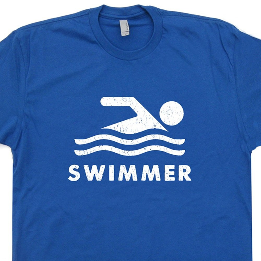 Design t shirt online usa - Newest 2017 Men S Fashion Swimmer T Shirt Swimmer Team Logo Tee Usa Sign Retro Graphic Design