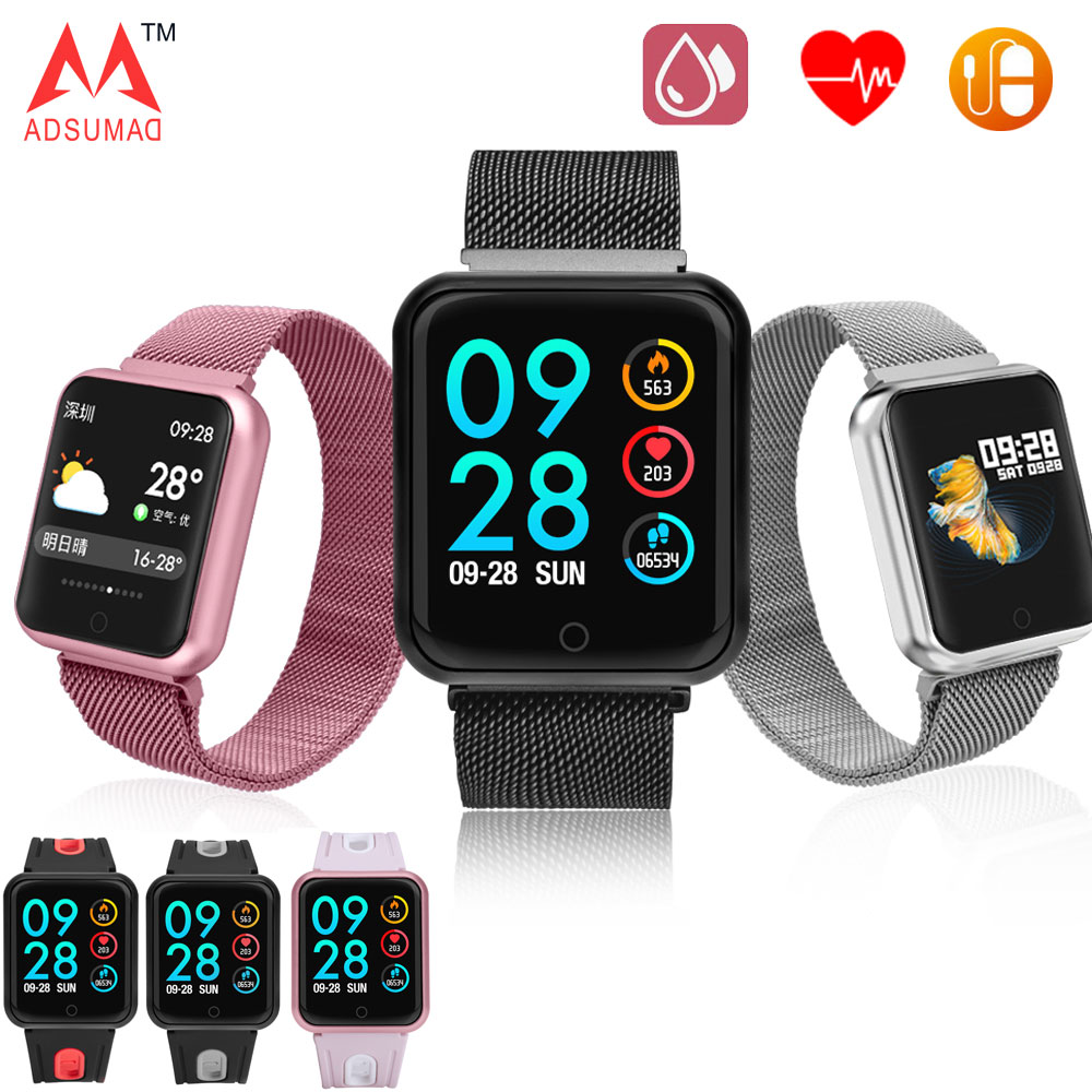 Smart Watch P68 Band IP68 Waterproof Smartwatch Dynamic Heart Rate Blood Pressure Monitor For IPhone Android Sport Health Watch(China)