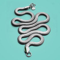 New 925 sterling silver necklace Men's Fashion Snake Necklace 6mm61cm Size Solid Silver Necklace Charm Jewelry birthday present