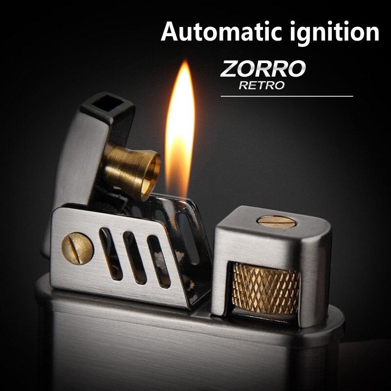 ZORRO zigarette leichter benzin kerosin öl benzin leichter winddicht Lange standby-automatische zündung leichter