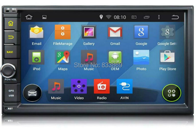 Capacitive touch screen Quad Core HD 2 din 7 Android 5 1 Universal Car radio pc