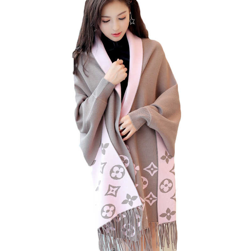 2018 Spring Autumn New Long-sleeved Sweater Cardigan Printed Tassels Knitted Shawl Jacket Loose Korean Women Tops A319