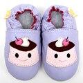Macio único bebê sapatos de couro meninas mocassins bebê recém-nascido menina infantis Shoes primeiro Walker criança crianças sapatos chinelos menino
