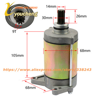 CF800 Starter Motor ATV UTV GO KART CF2V91W Engine Repair Parts X8 Z8 Replacement 0800-091000 MD-CF800 Drop Shipping