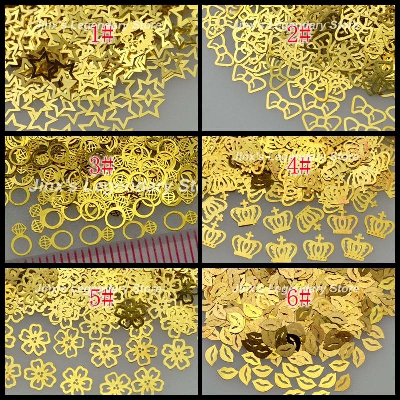 800 шт./упак. золотого цвета на высоком каблуке кошка любит Корона со снежинками для губ и с украшениями в виде звезды и цветка; Форма металлич...