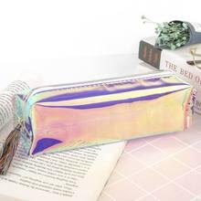 Legal Transparente Glitter Caixa de Lápis Sacos de Papelaria Criativa Moda Pvc Lápis Saco do Lápis Da Escola Caixa de Presente Suprimentos Estudante