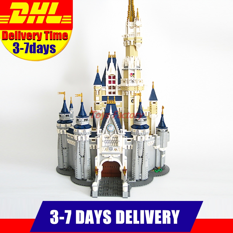 Free shipping 4160Pcs 2016 LEPIN 16008 Cinderella Princess Castle Model Building Kits Block Bricks Toys lepin 16008 creator cinderella princess castle city 4080pcs model building block kid toy gift compatible 71040
