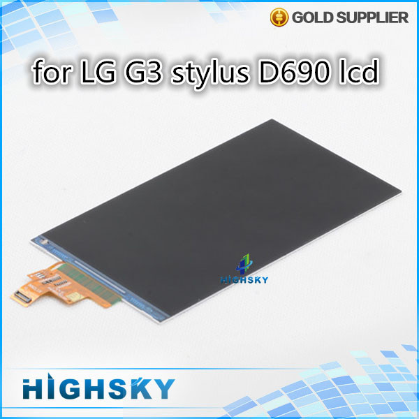10 pcs/lot HK free shipping 100% new tested replacement part for lcd LG G3 stylus D690 display