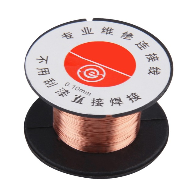 New 0.1MM Copper Soldering Solder PPA Enamelled Repair Reel Wire Fly Line 0.1MM Copper Solder Wire free shippng Welding & Soldering Supplies
