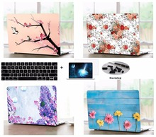 Laptop Shell Case Keyboard Cover Dust Plugs Screen Protector LCD Film Sleeve For 13 15″ Apple Macbook Pro Air A1466 A1706 A1502
