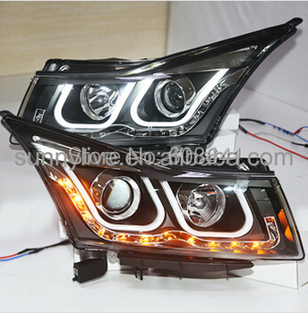 Cruze led headlight 2009-2013 U type LF V2 фото