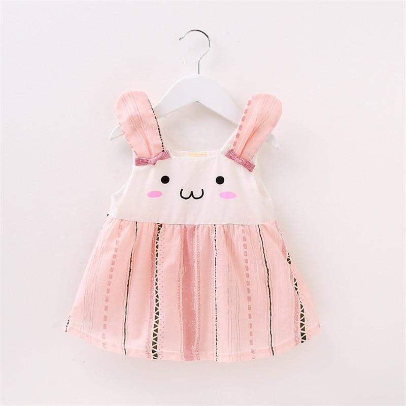 Kids Baby Dress New Summer Cotton Rabbit Baby Dresses Summer Sweet Baby Girl Birthday Dresses Toddler Princess Dresses