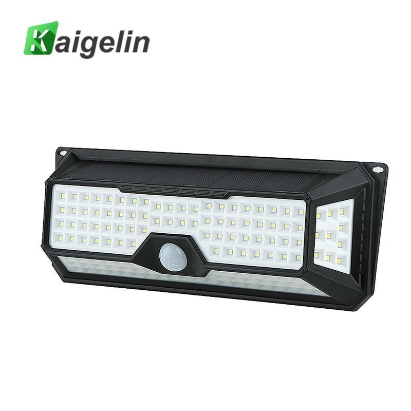 136LEDs Solar Powered Security Light Motion Sensor Garden Wall Lamp Waterproof