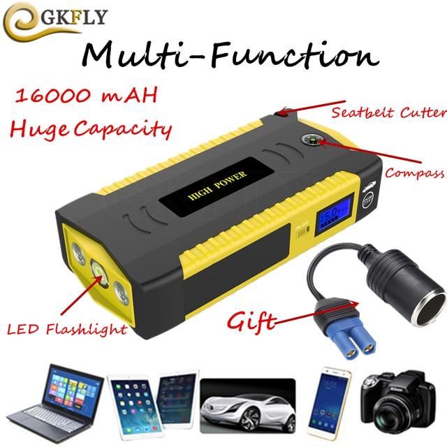 16000 mAh alta Capacidade de Reforço do Dispositivo de Partida 600A 12 V Banco Do Poder de Arranque Do Carro Portátil Carro Saltar de Arranque Para Carro carregador de bateria