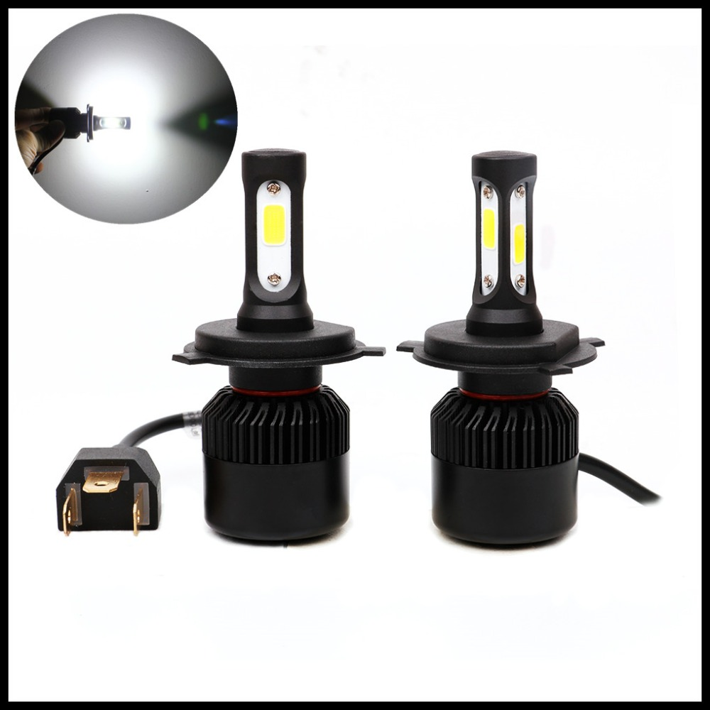 Us 32 0 Fsylx Car H4 H13 9004 9007 High Low Beam Cob Led Headlight Fog Lamps Drl Bulb 72w H4 9004 9007 Led Headlight Bulbs In Car Light Assembly