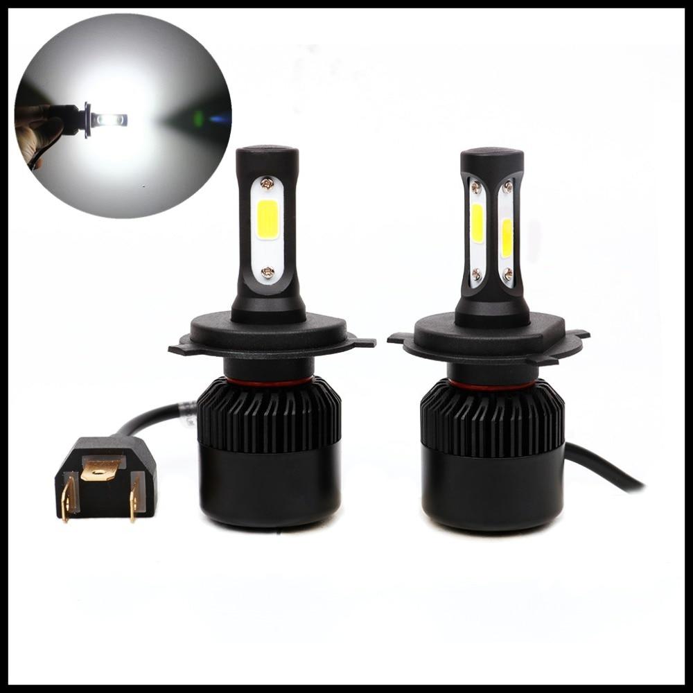 H4 H13 9004 9007 Car LED Headlight High Low Beam Fog Lamp 72W Xenon white H4 9004 9007 LED headlight Lamp Bulb DRL fog light